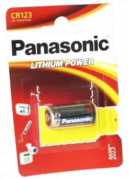 Panasonic CR123 Lithium Power Photo Foto Batterie 3V