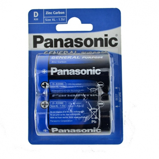Panasonic Plus R20 2er Blister Batterie