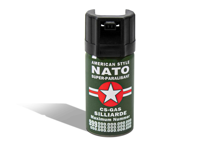 Nato CS-Gas Tränengas Silliarde Abwehrspray Super Jet Spray 40ml