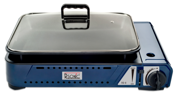 Rsonic Deluxe tragbarer Gasgrill mit Grillpfanne RS-8